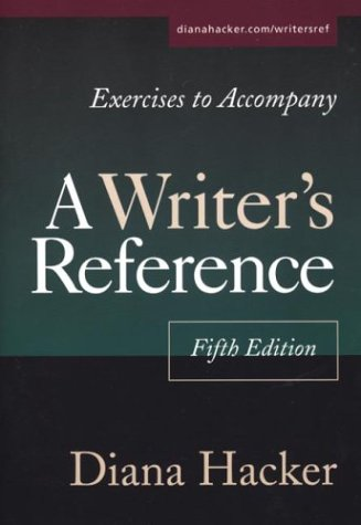 Image for Exercises to Accompany A Writer's Reference: Compact Trim Size