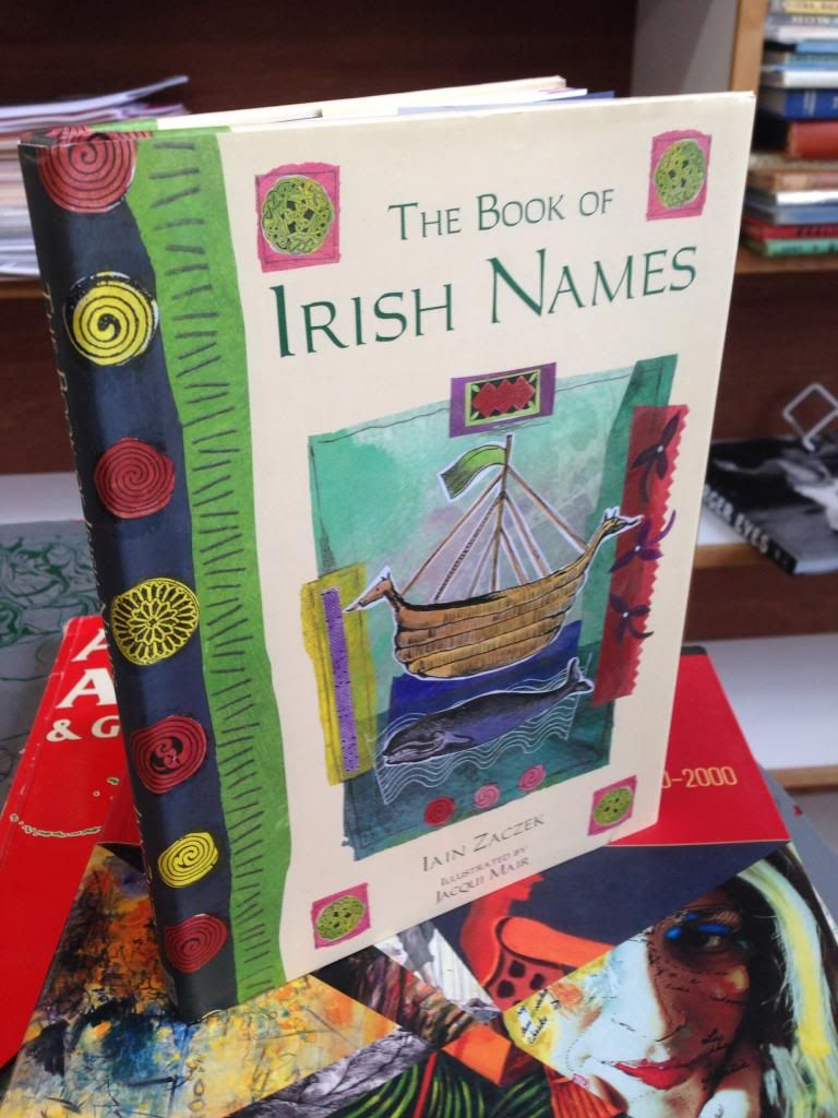 Image for The book of Irish names