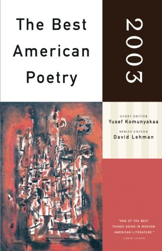 Image for The Best American Poetry 2003