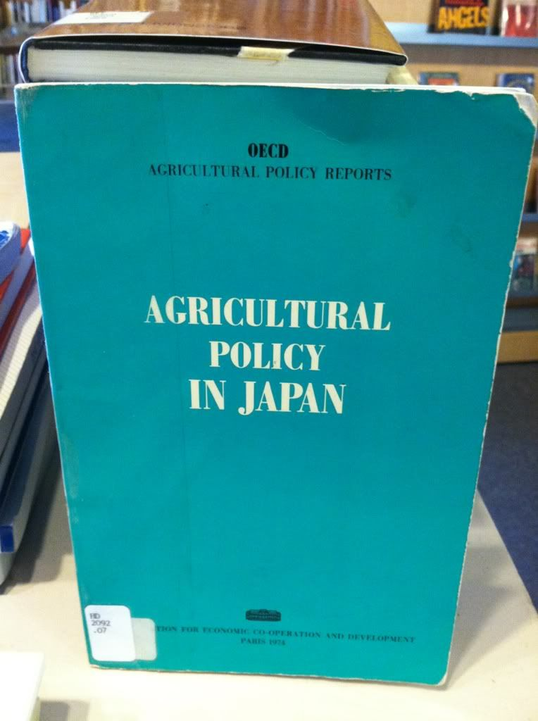 Image for Agricultural policy in Japan (Agricultural policy reports)