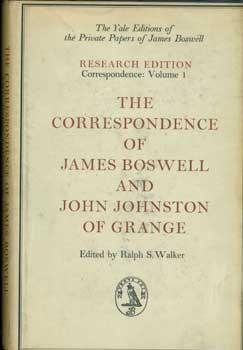 Image for The Correspondence of James Boswell and John Johnston of Grange