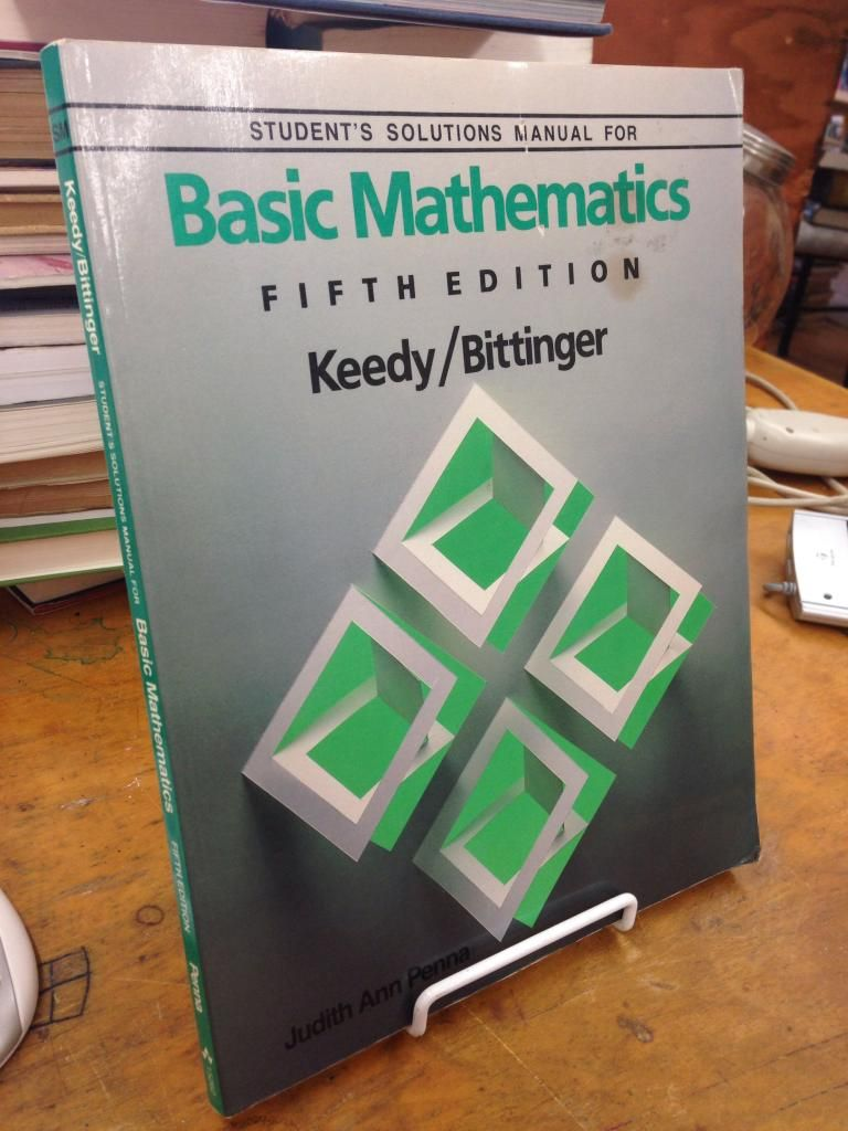 Image for Student's solutions manual for Basic mathematics: Fifth edition, Keedy, Bittinger