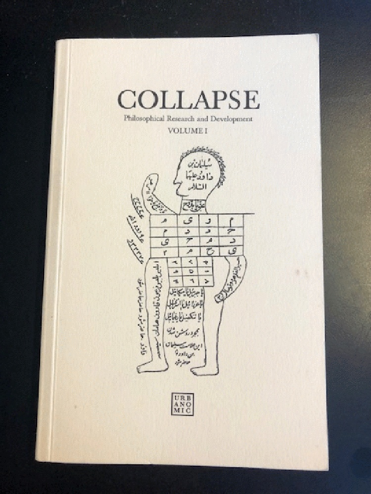 Image for COLLAPSE Philosophical Research and Development Volume I