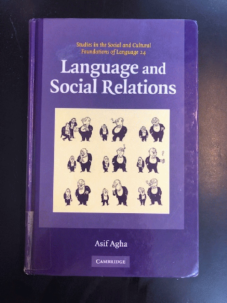 Image for Language and Social Relations (Studies in the Social and Cultural Foundations of Language)