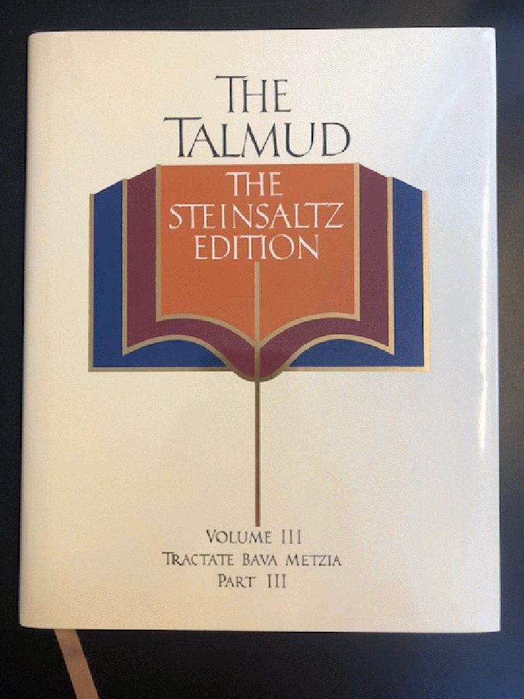 Image for The Talmud, Vol. 3: Tractate Bava Metzia, Part 3, the Steinsaltz Editon (English and Hebrew Edition)