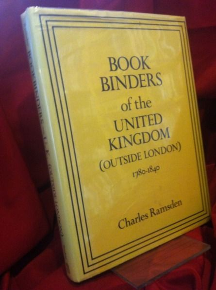 Image for Book Binders of the United Kingdom (Outside London) 1780-1840