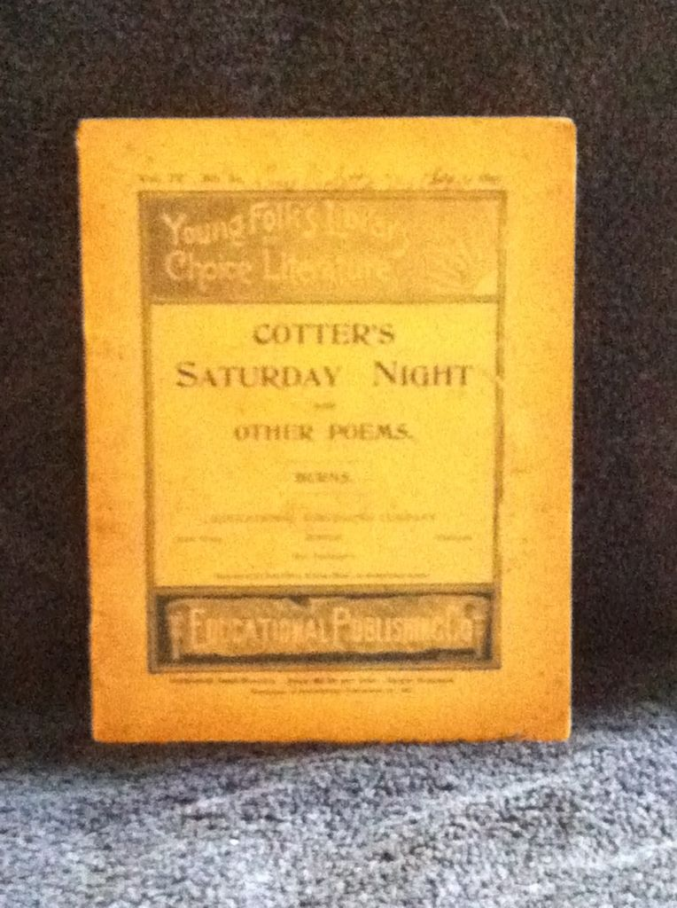 Image for Young Folk's Library of Choice Literature: Cotter's Saturday Night and Other Poems by Burns, Robert
