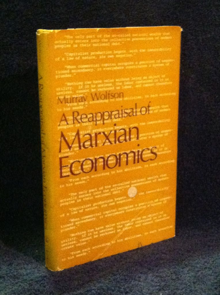 Image for Reappraisal of Marxian Economics