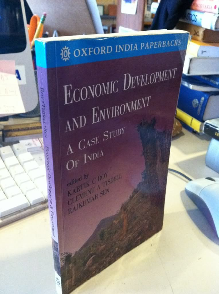 Image for Economic Development and Environment: A Case Study of India (Oxford India Paperbacks)