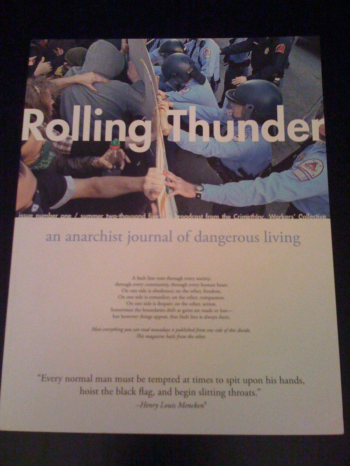 Image for Rolling Thunder An Anarchist Journal of Dangerous Living