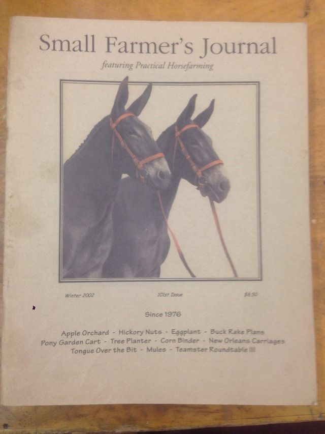 Image for Small Farmer's Journal Featuring Horsefarming Winter 2002 101st Issue by N/A