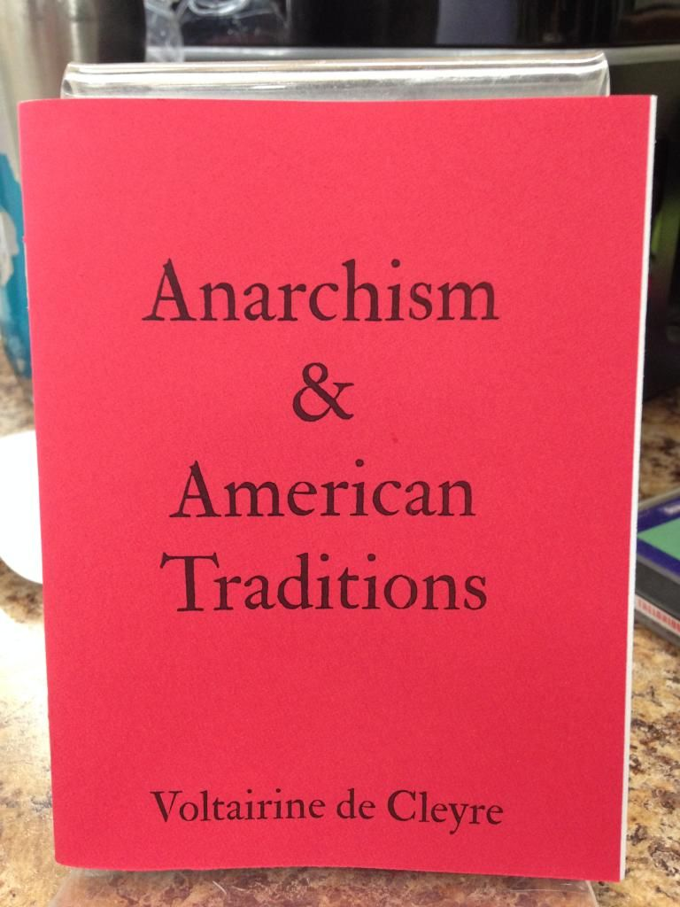 Image for Anarchism & American Traditions by Voltairine de Cleyre