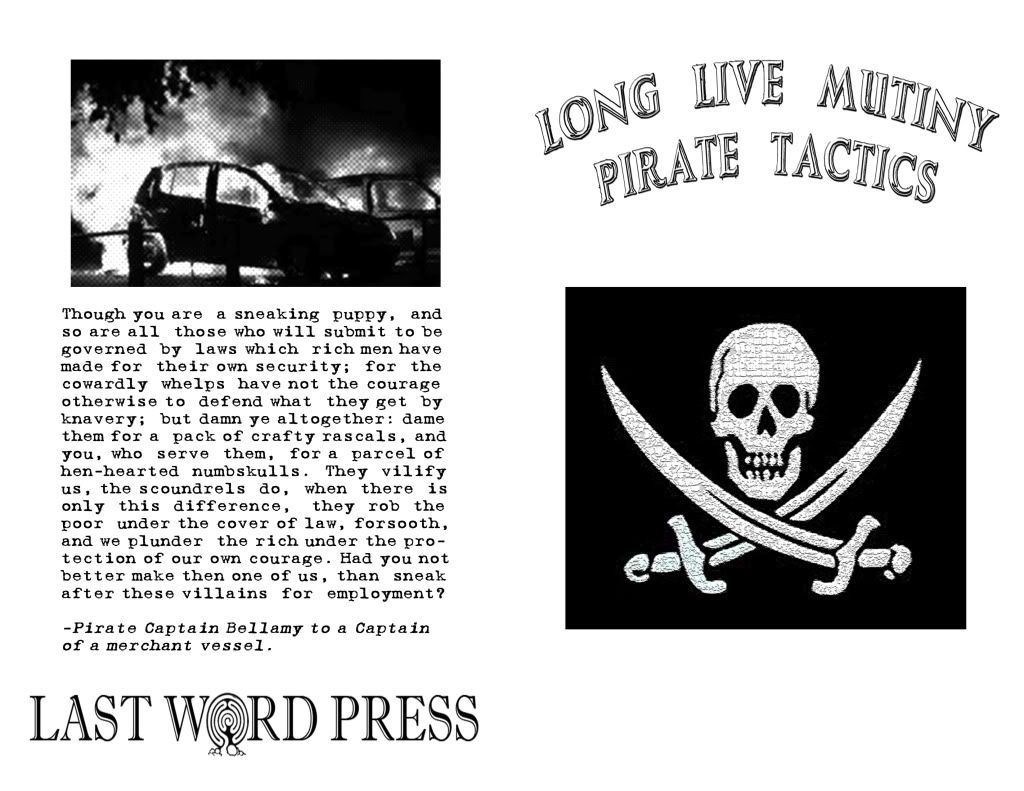 Image for Long Live Mutiny! Pirate Tactics by compiled and pirated by Cap'n Mayhem of the Drunken Boat Crew
