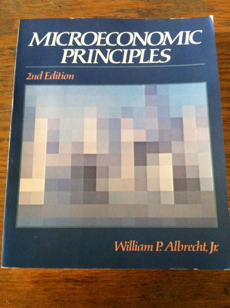 Image for Microeconomic principles