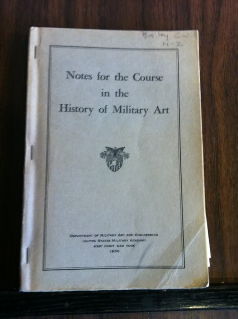 Image for Notes for the Course in the History of Military Art